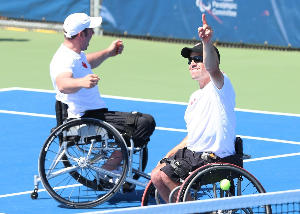 Canada earned bronze in the men's doubles tennis final