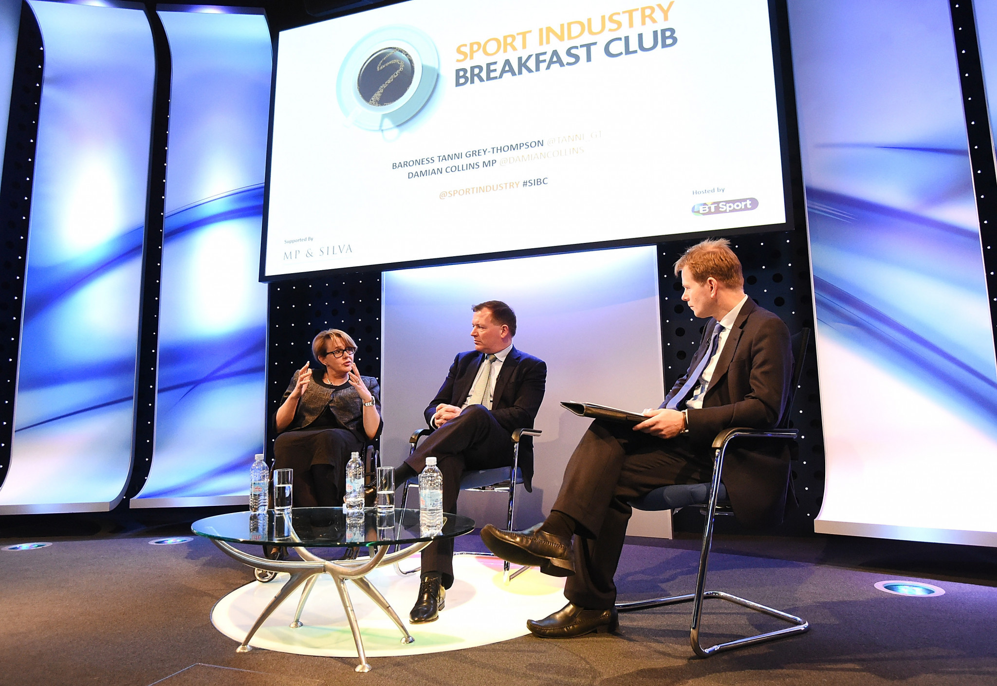 Baroness Tanni Grey-Thompson, left, and Damian Collins, centre, will take part in the Committee hearing ©Getty Images