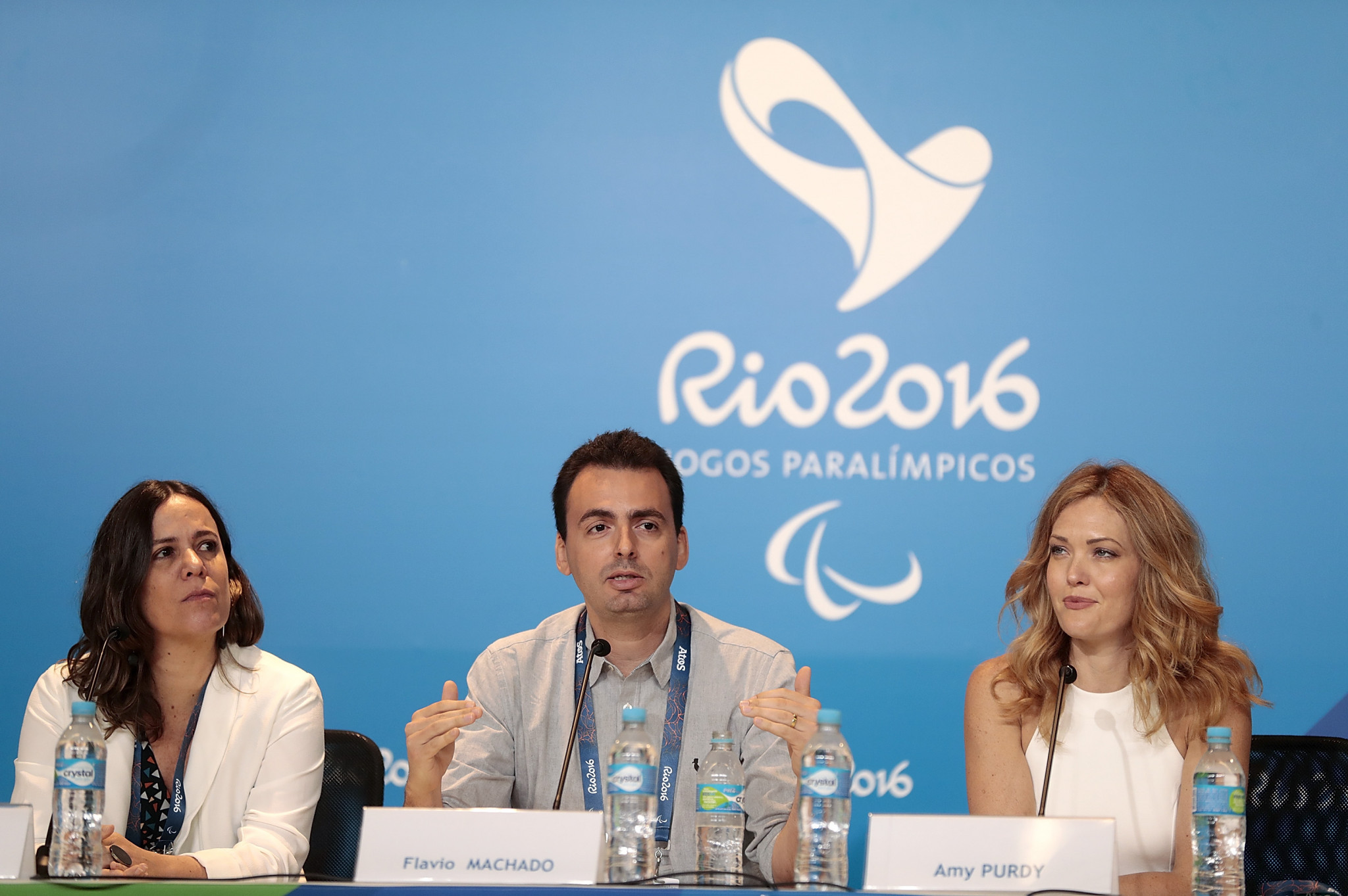 Flavio Machado, centre, served as the executive producer of the Rio 2016 Paralympic Ceremonies ©Getty Images