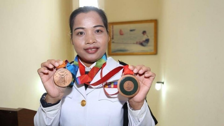 Thailand's Wandee Kameaim who this month received her bronze medal for the 2008 Beijing Olympics ©Thai Amateur Weightlifting Association