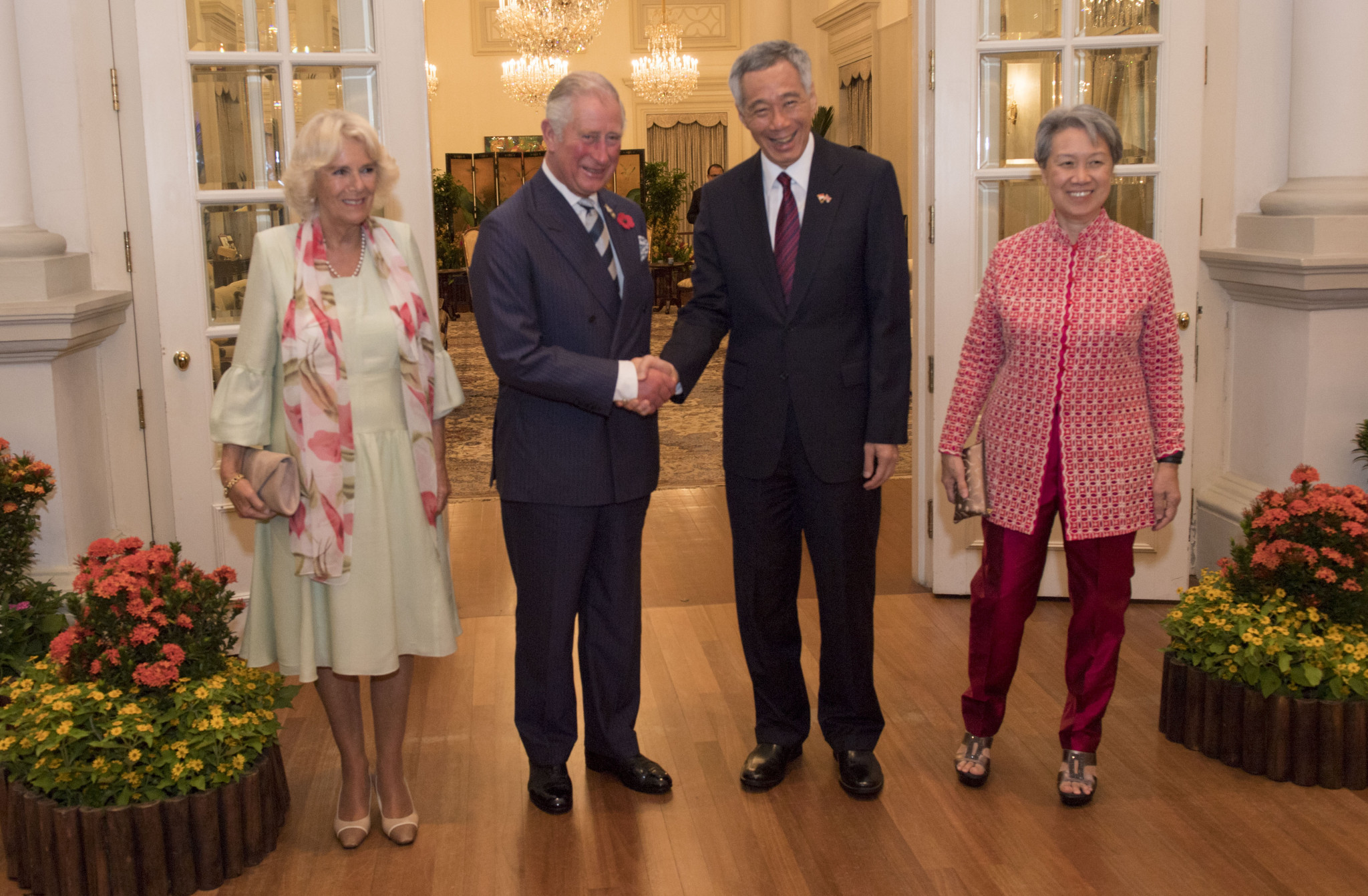 Prince Charles met with Singapore's Prime Minister Lee Hsien Loong.as part of his three day visit ©Getty Images