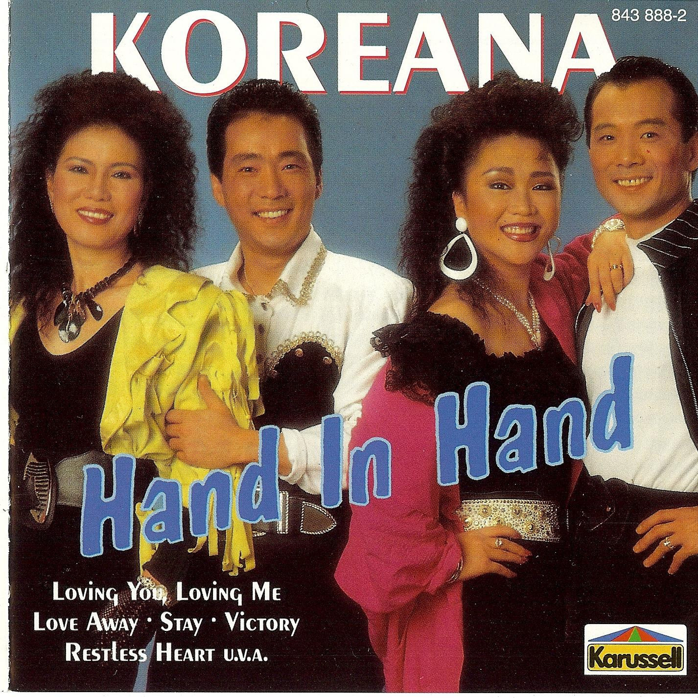 n 1988 the Koreans launched perhaps the most famous Olympic song of all:  'Hand in Hand' by Georgio Moroder and Tom Whitlock ©Karussell