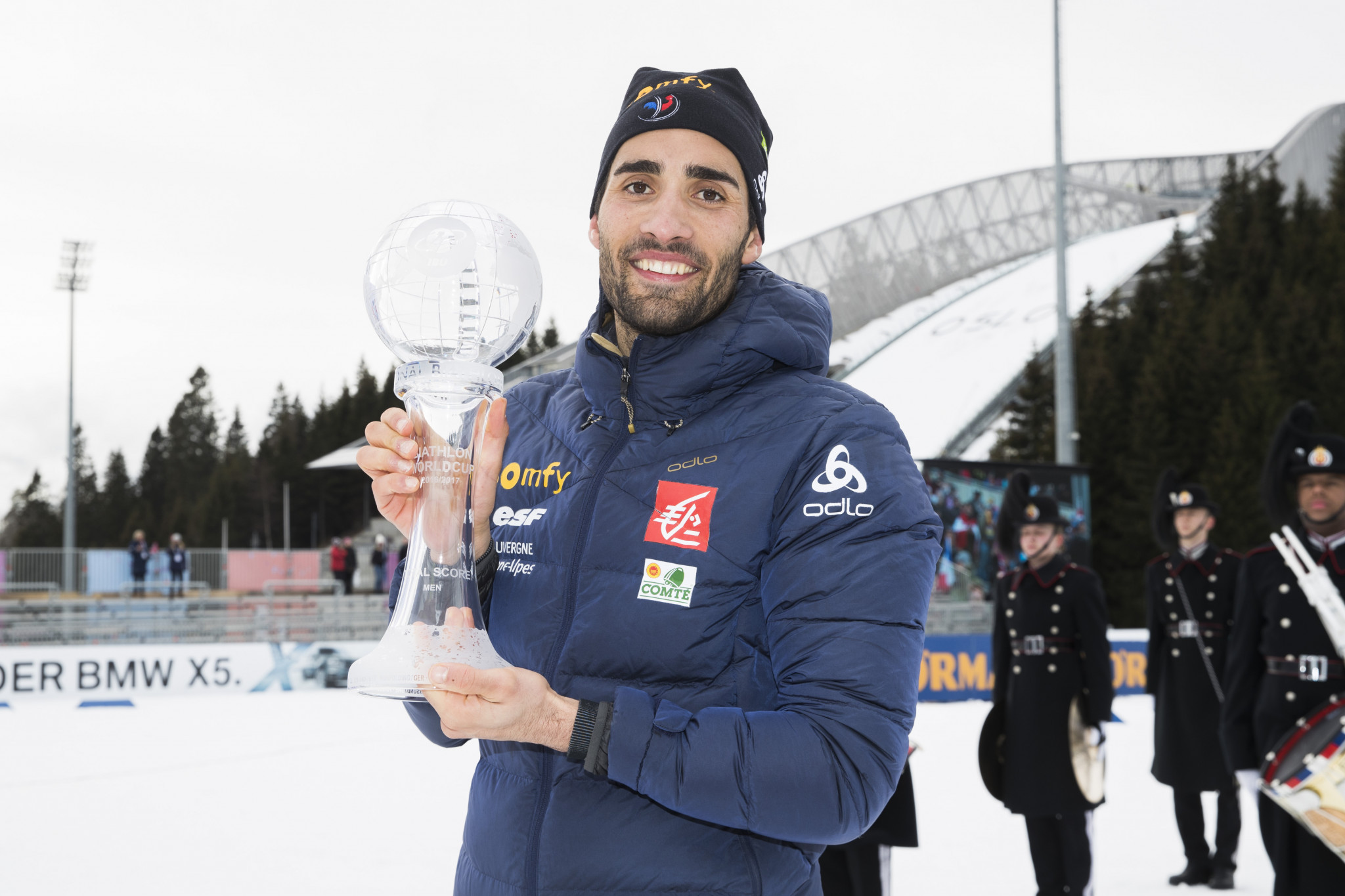Martin Fourcade of France, pictured here in Oslo, Norway in March, is expected to carry his nation's hopes in Pyeongchang 2018 ©Getty Images