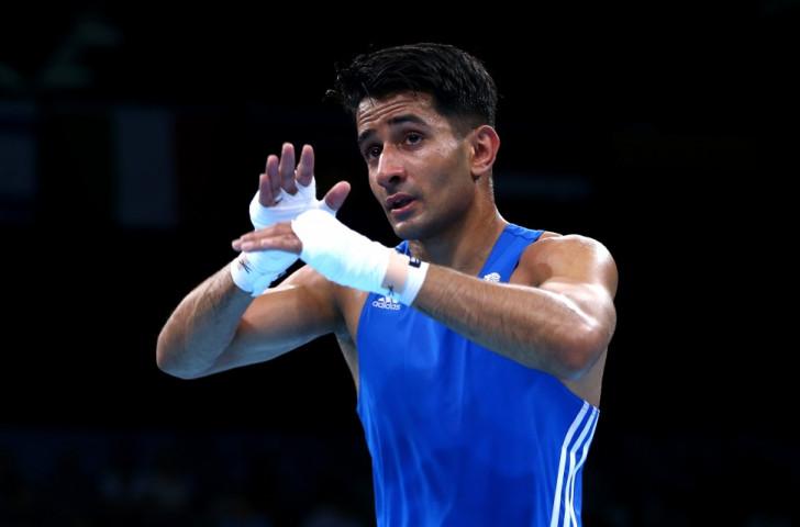British bantamweight Qais Ashfaq convincingly defeated Armenia's Aram Avagyan