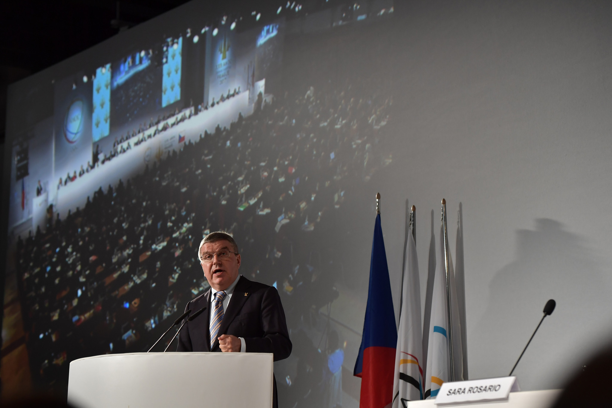 Thomas Bach delivered a keynote address at the ANOC General Assembly meeting today ©Getty Images