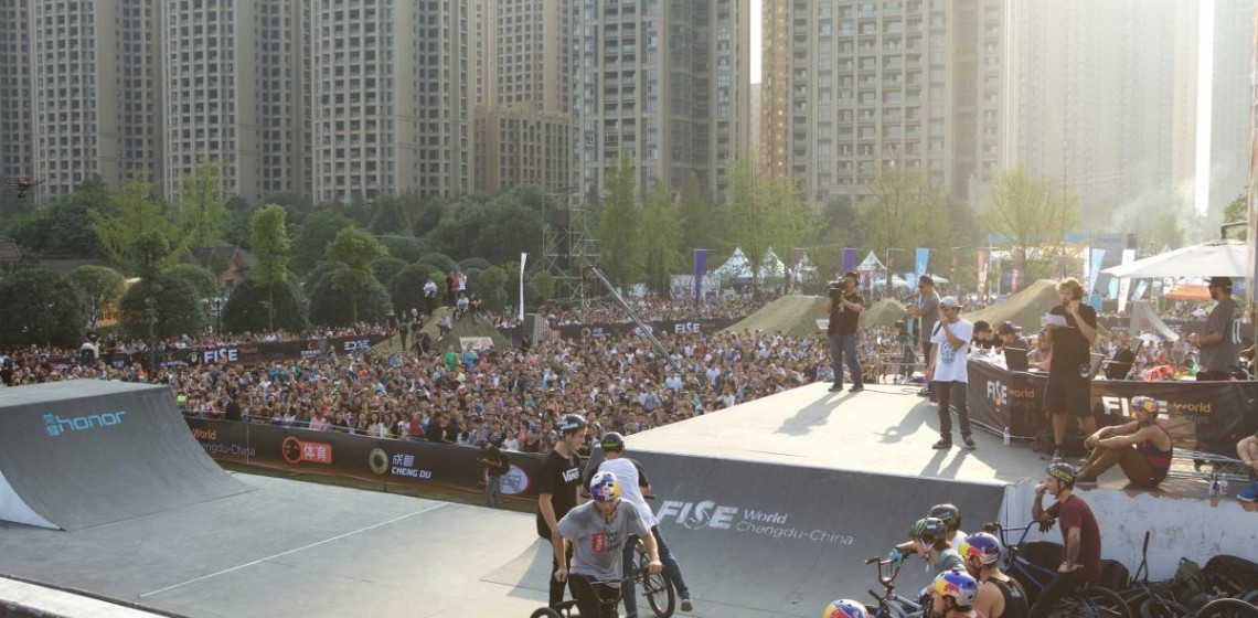 The FISE World Series also incorporates World Cups in BMX freestyle park and roller freestyle ©FISE