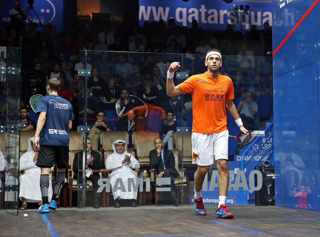 Elshorbagy ousts Gaultier to set up all-Egyptian final at PSA Qatar Classic