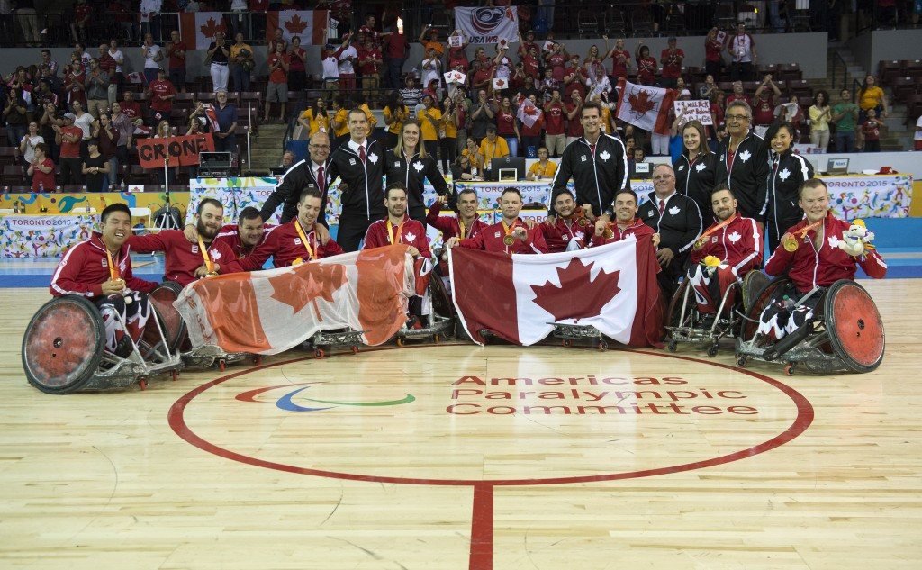 Canada defeated arch rivals the United States in the wheelchair rugby final ©Canadian Paralympic Committee
