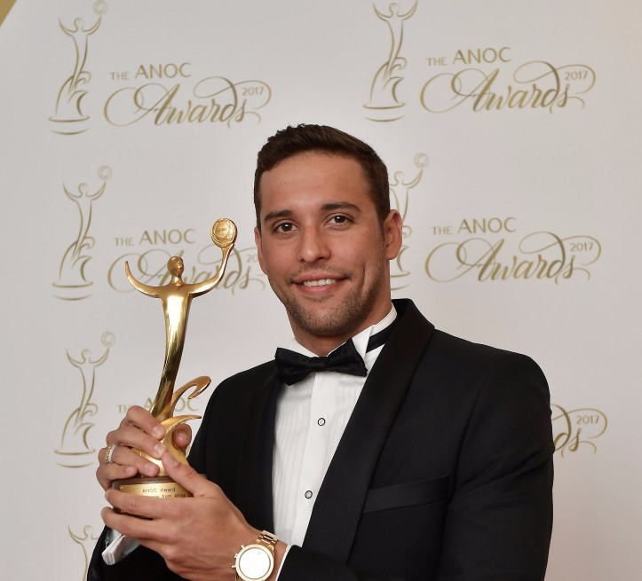 Le Clos leads on night of swimming and athletics success at ANOC Gala Awards