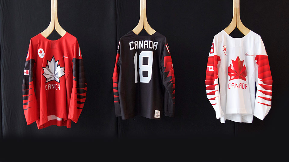 Hockey Canada have revealed the shirts their teams will wear at Pyeongchang 2018 ©Hockey Canada