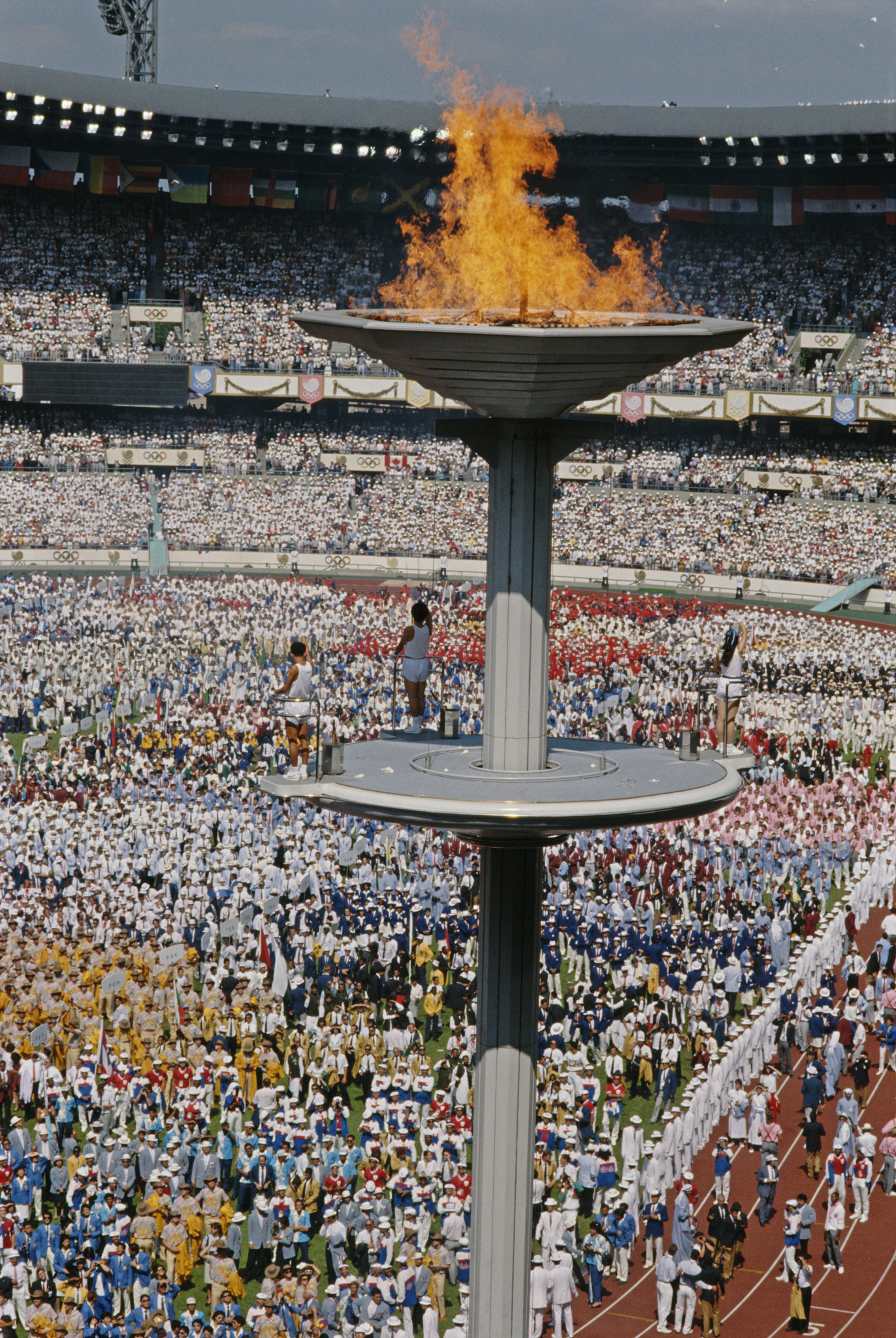 Sohn Kee-chung spoke oif being visibly moved by the Opening Ceremony of the 1988 Summer Olympics in Seoul, South Korea ©Getty Images