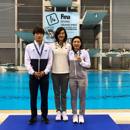 South Korea win both finals on opening day at FINA Diving Grand Prix in Singapore