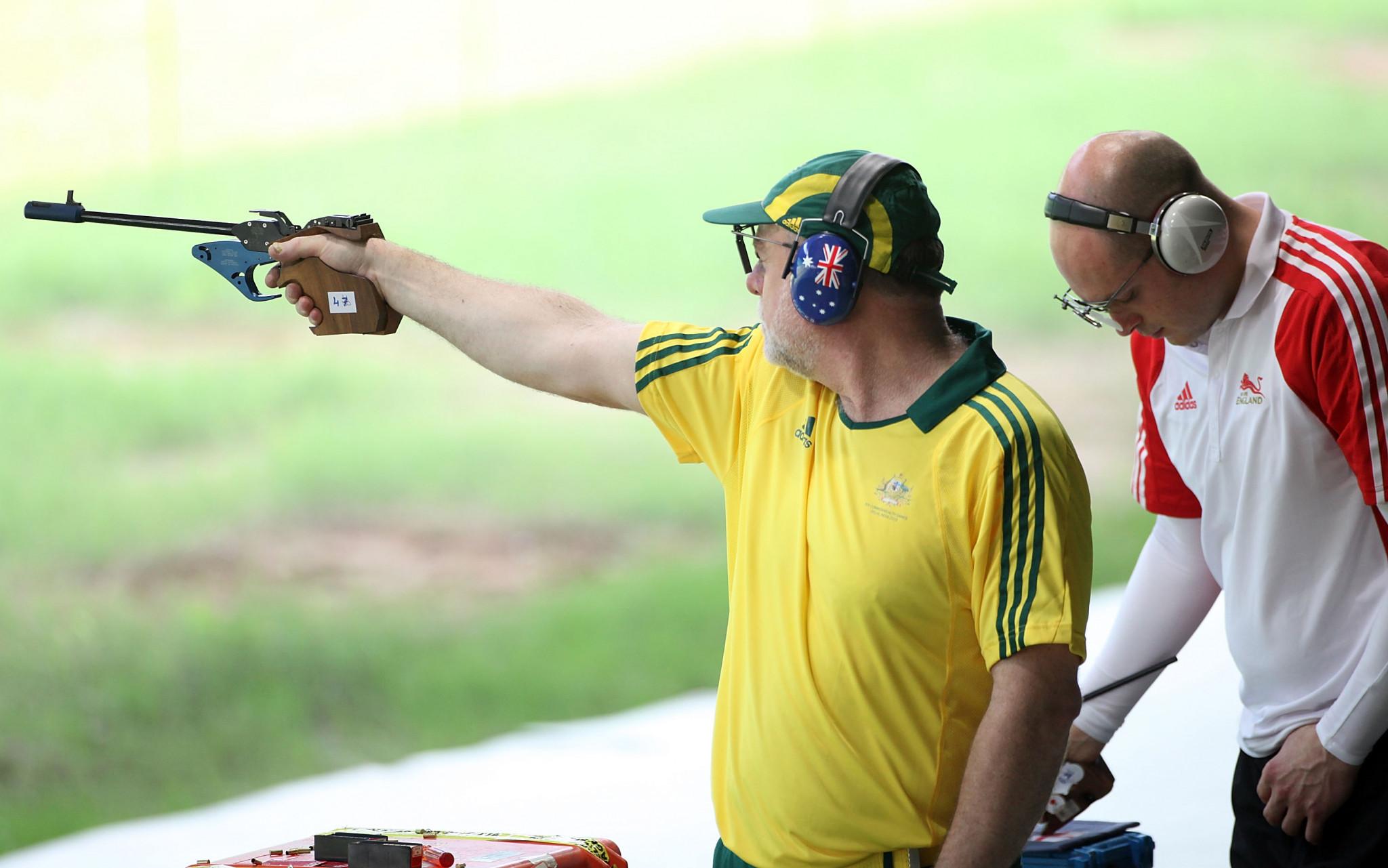 New Delhi 2010 bronze medallist Bruce Quick won gold in the continental men's 50m pistol event ©Getty Images