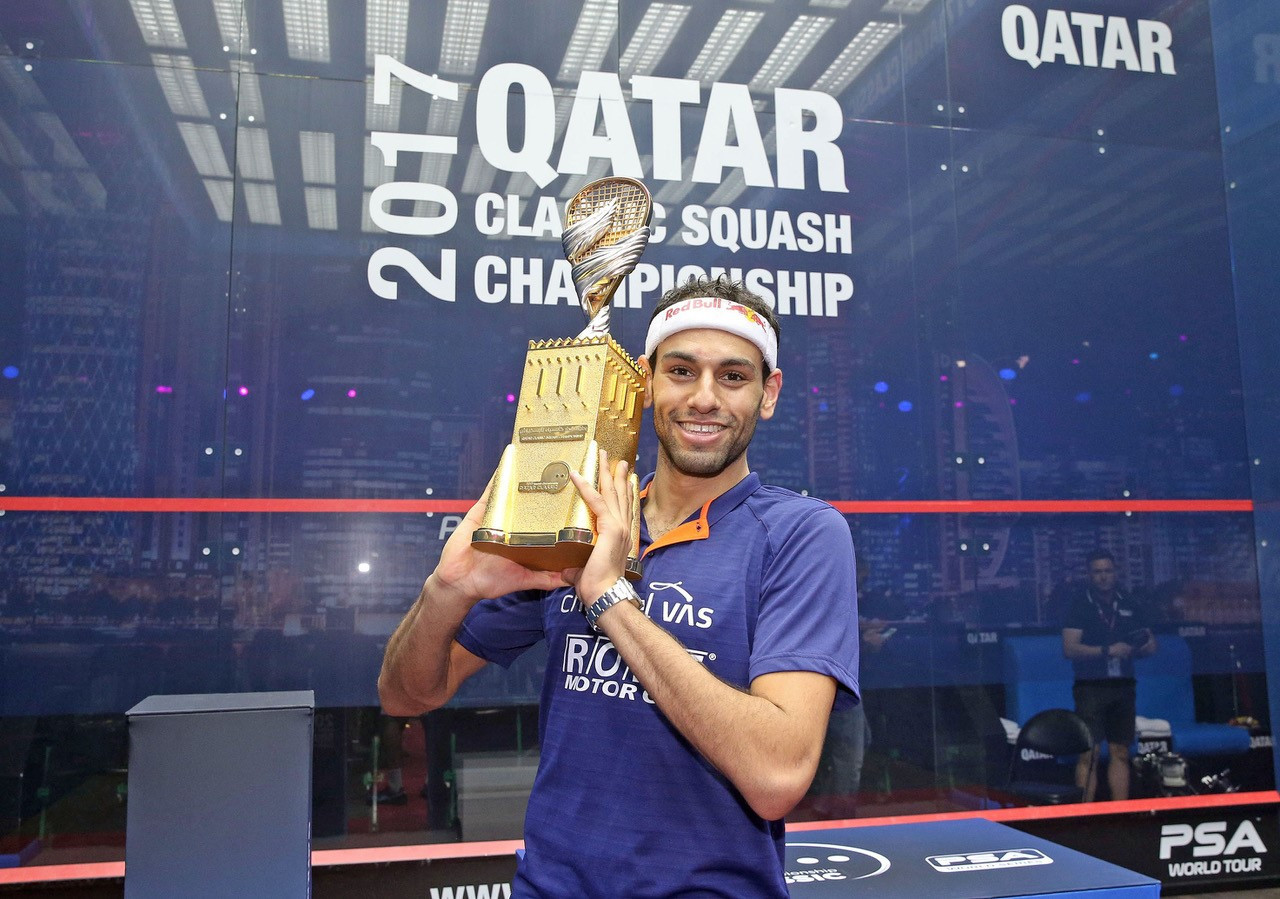 Egypt's Elshorbagy beats compatriot to claim third PSA Qatar Classic crown