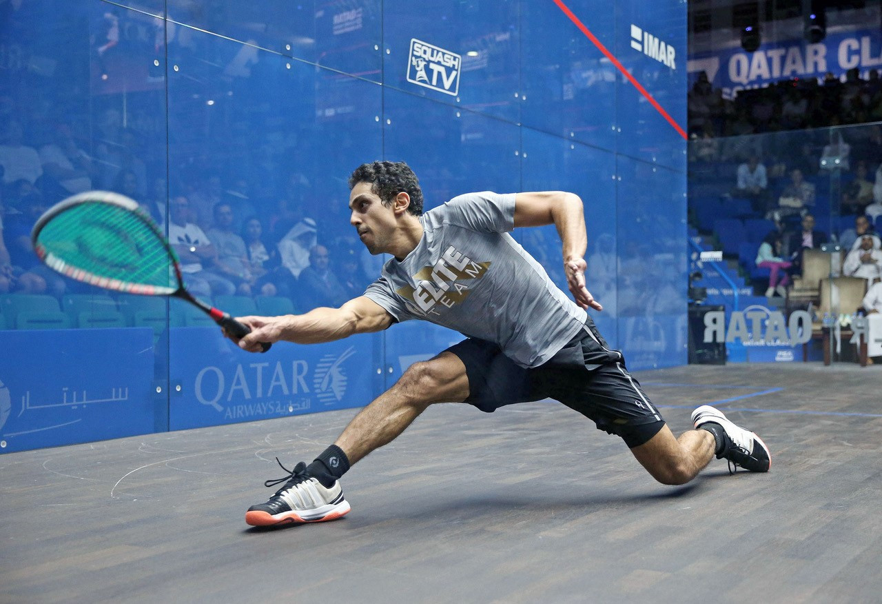 Tarek Momen was appearing in the first major PSA World Series tournament final of his career ©PSA