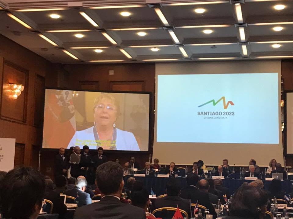 Chilean President Michelle Bachelet vowed Government support for the Games ©ITG