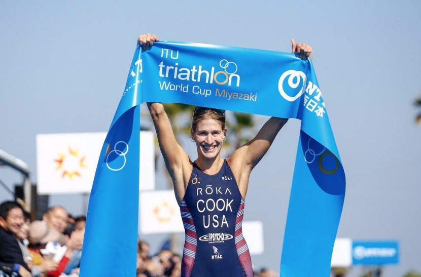 Cook concludes ITU World Cup season in style with success in Miyazaki