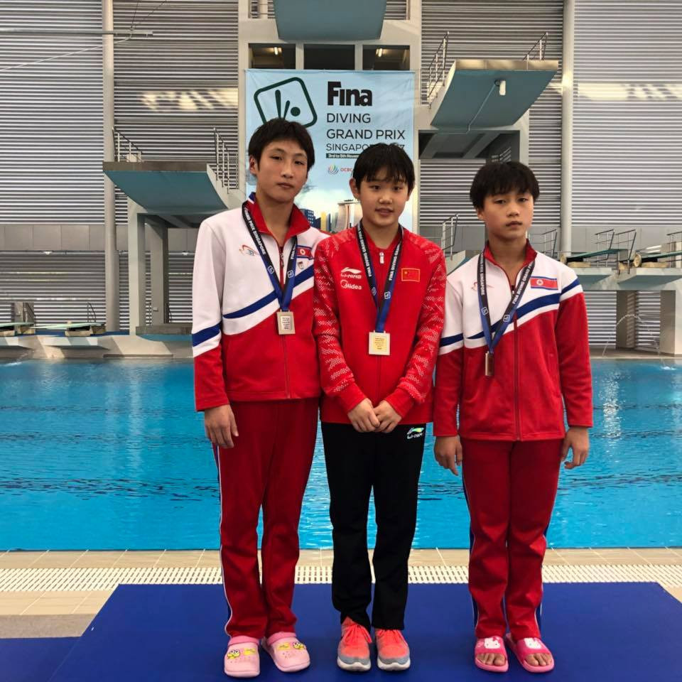 Chinese star Zhang wins gold medal at FINA Diving Grand Prix in Singapore