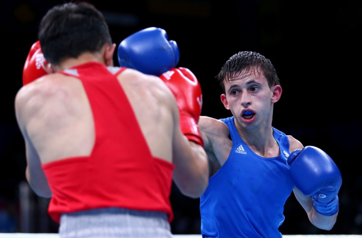 Britain's Harvey Horn was beaten by Russia's Vasilii Egorov at light flyweight