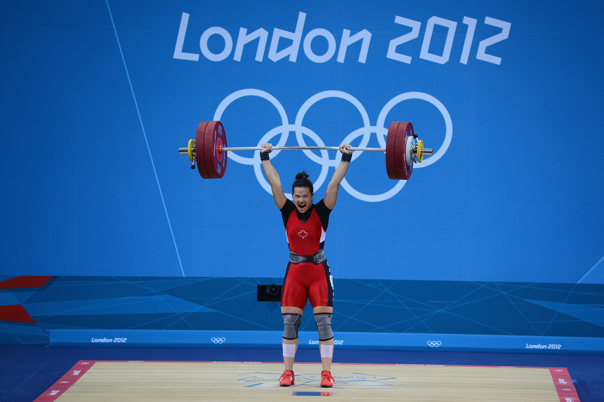 Christine Girard, of Canada, is another lifter who is still waiting ©Getty Images