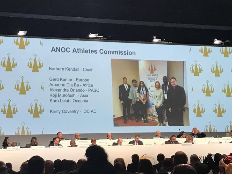 The current composition of the ANOC Athletes' Commission apart from Tegla Loroupe ©ITG