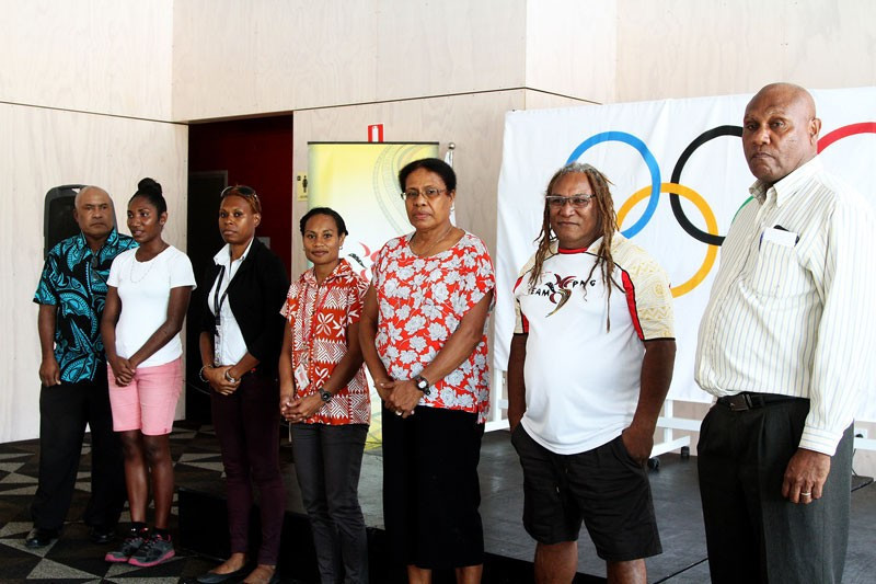 Seven Olympians from Papua New Guinea took part in various Olympic Day celebrations recently ©PNGOC