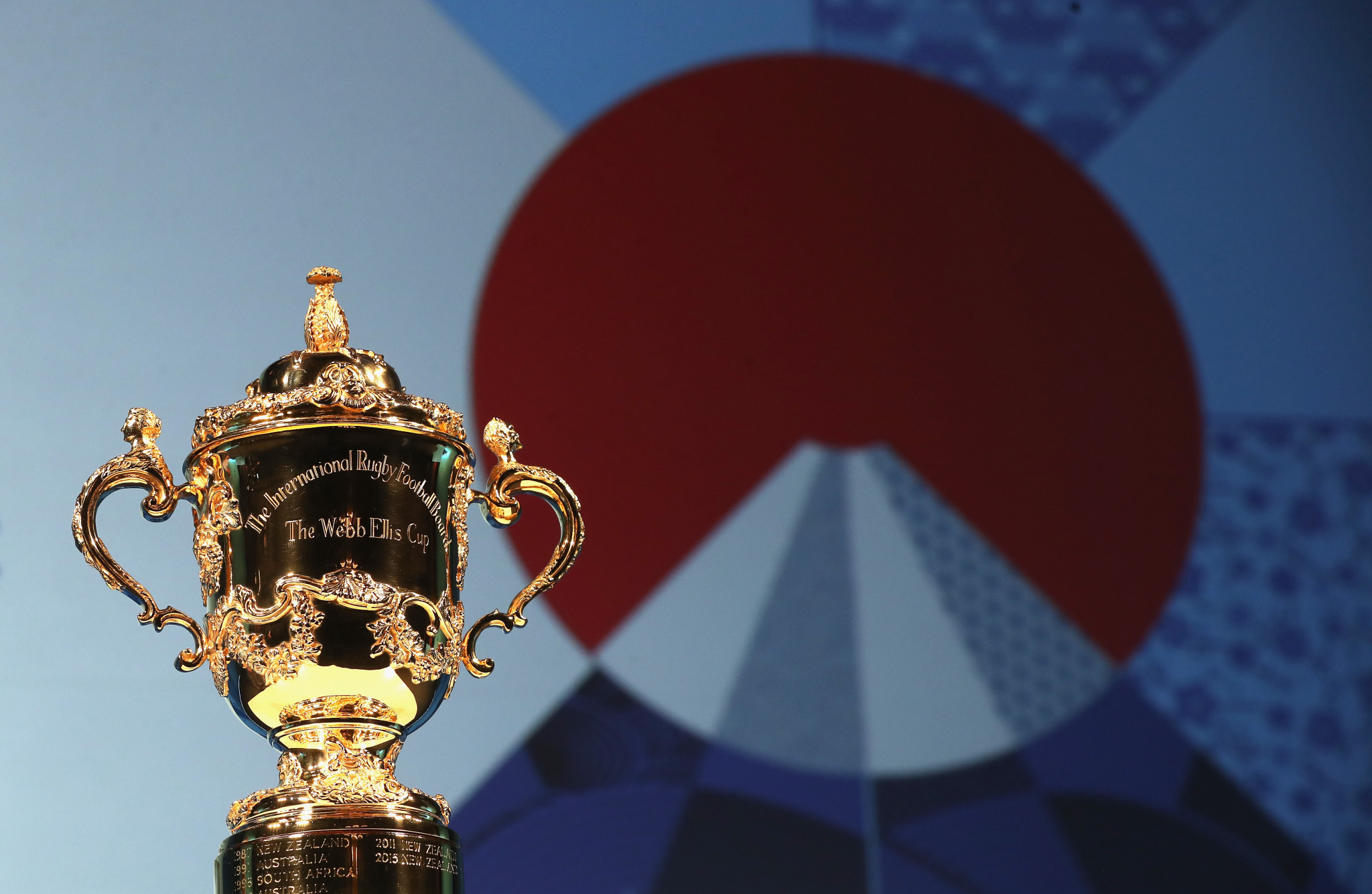 The Webb Ellis Cup, played for at the Rugby World Cup ©Getty Images