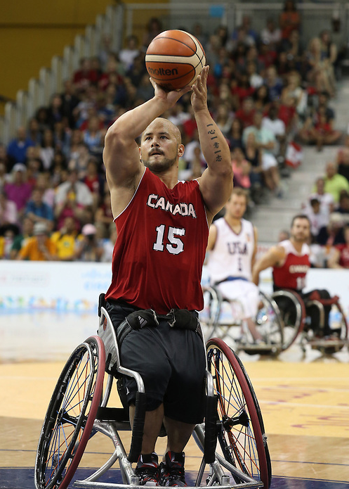 Canada had to settle for silver in the men's wheelchair basketball competition after losing to the United States in the final