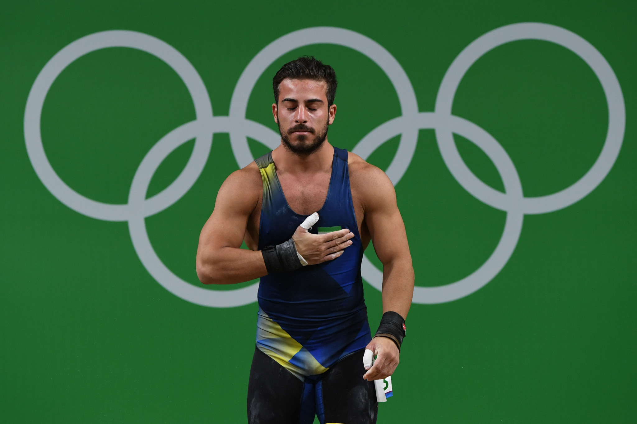 Iran's Kianoush Rostami, who has been refused a visa to enter the United States for the International Weightlifting Federation World Championships ©Getty Images