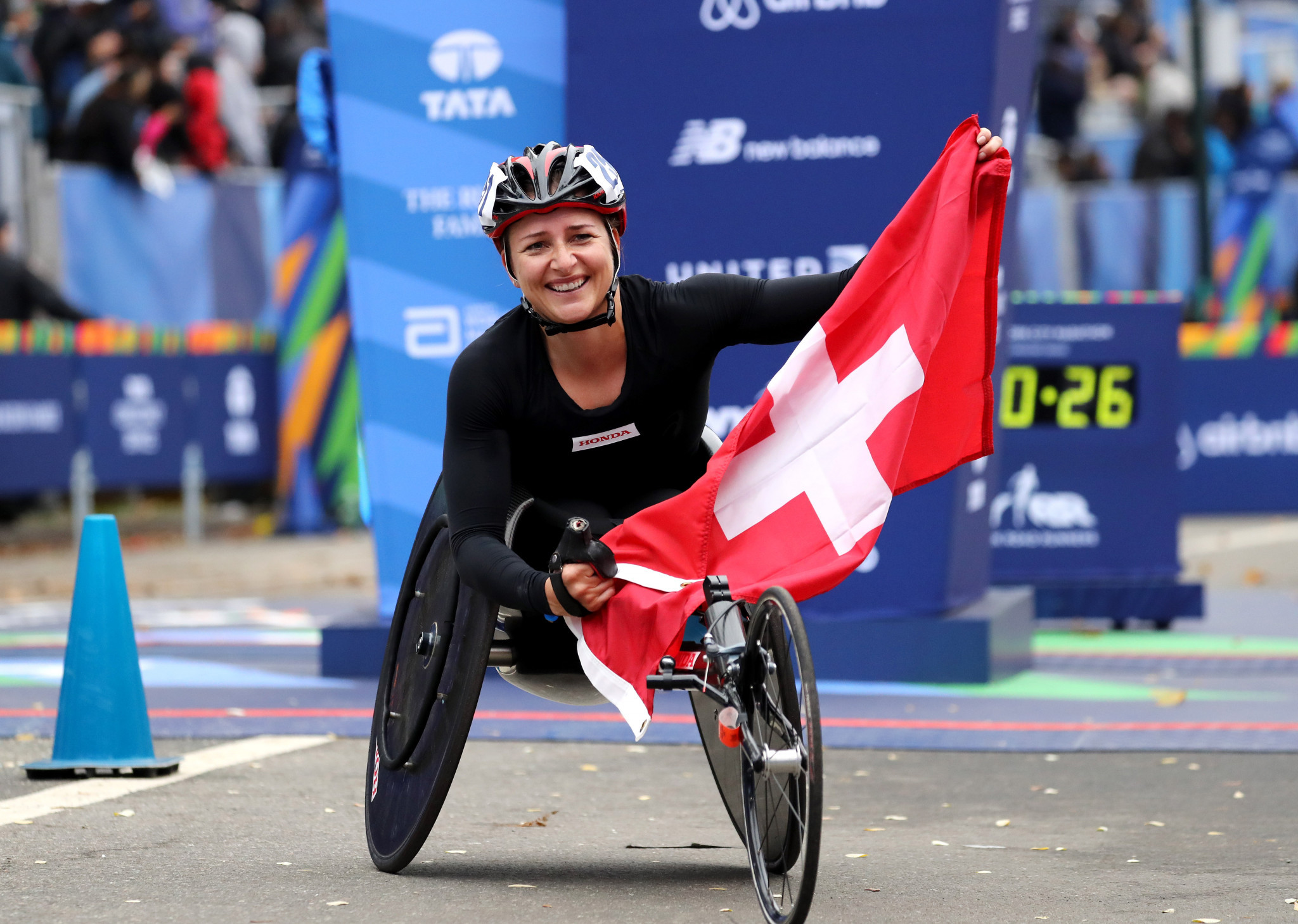 Clean sweep with Swiss double in New York City as pair race to victory in 2017 wheelchair marathon