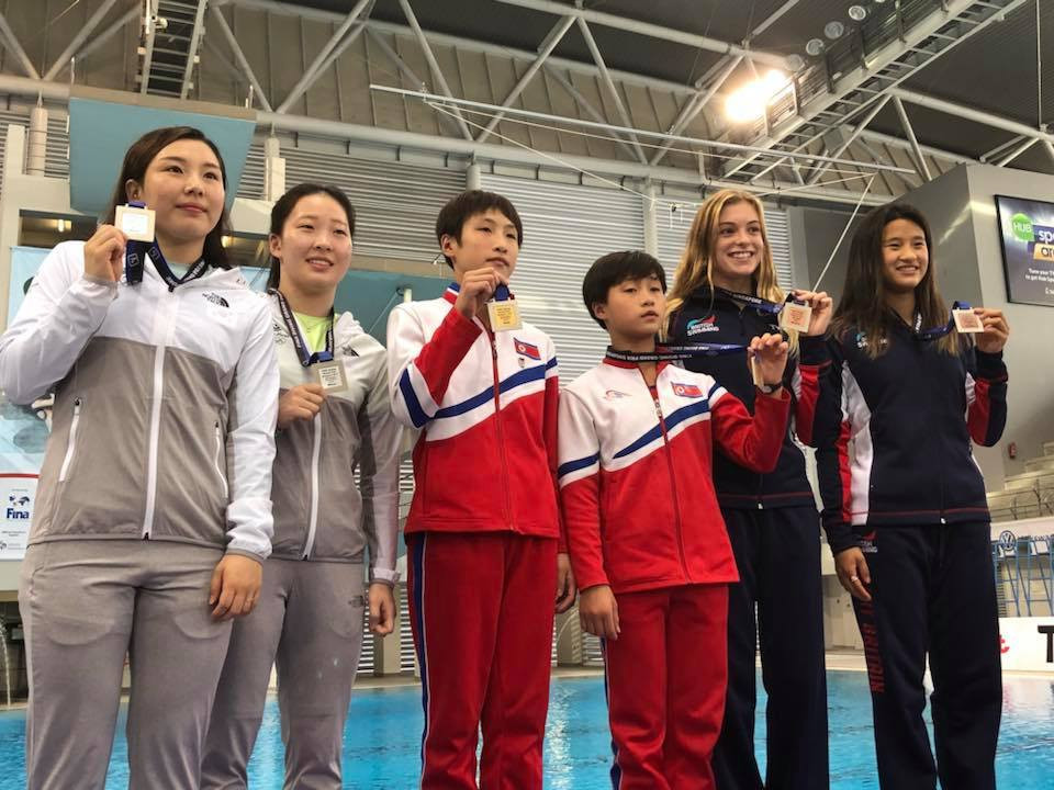 North Korean duo beat South Korea to gold at FINA Diving Grand Prix