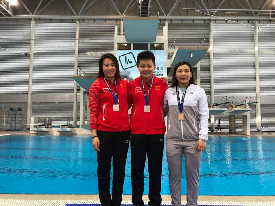 China claimed gold and silver in the women's 3m springboard final ©Singapore Swimming Association/Facebook