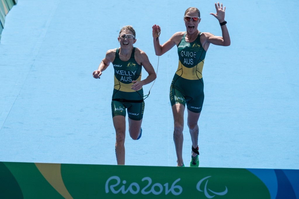 Katie Kelly won a Paralympic triathlon gold medal for Australia at Rio 2016 ©Getty Images
