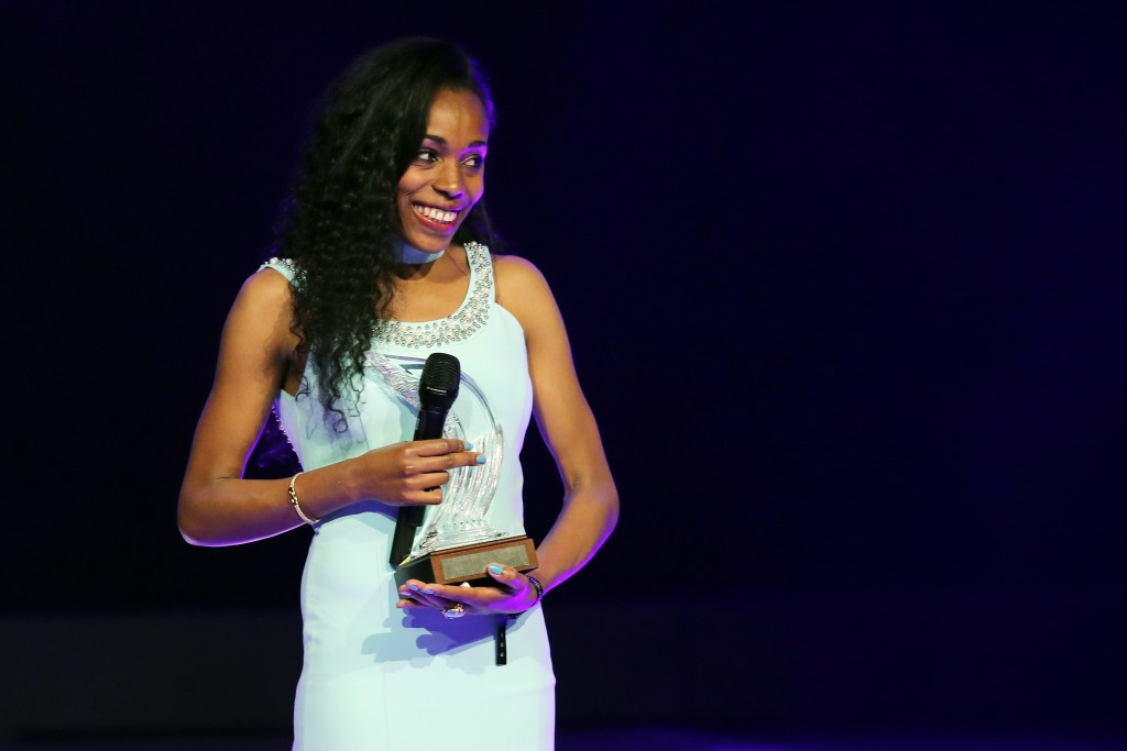 Ethiopia's Almaz Ayana won the 2016 Female IAAF World Athlete of the Year and will be hoping to retain the title this month ©Getty Images