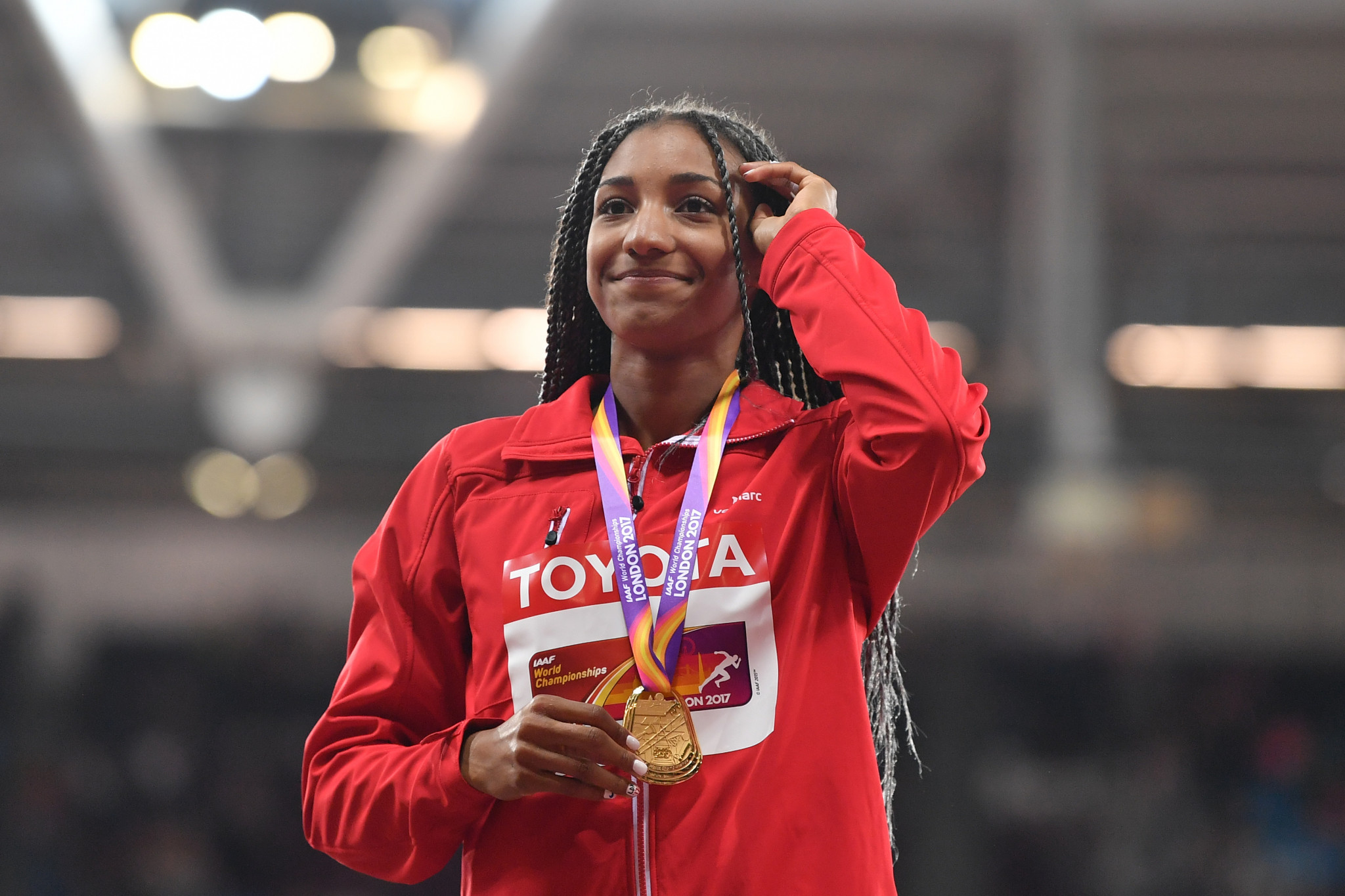 Nafissatou Thiam, the first Belgian to win a gold medal in a World Athletics Championship, is among the nominees for Female World Athlete of the Year ©Getty Images