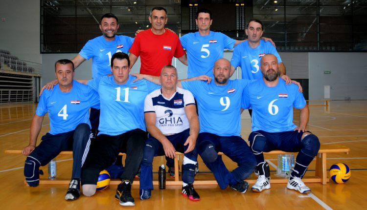 Croatia's sitting volleyball team are off the mark in the European Championships on home soil ©eurosittingvolley.com