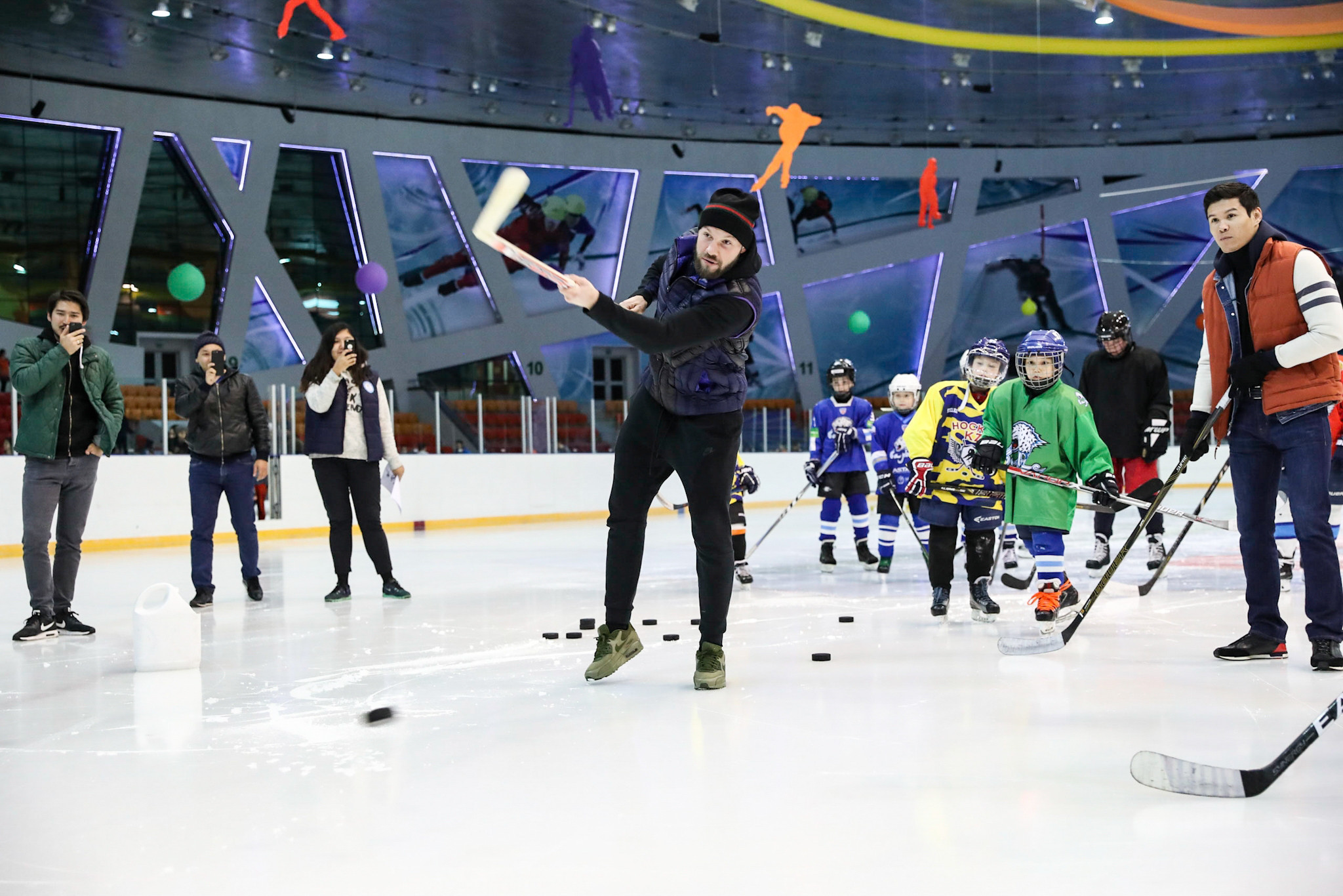 Athletes from summer and winter sports participated in the festivities ©National Olympic Committee of Republic of Kazakhstan