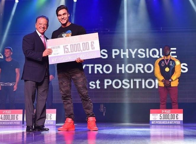 Ukraine's Dmytro Horobets was confirmed as the 2017 IFBB Elite World Rankings winner in physique ©Igor Kopcek/East Labs Team/IFBB