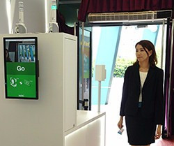 The facial recognition system was used to correctly identify staff ©NEC Corporation