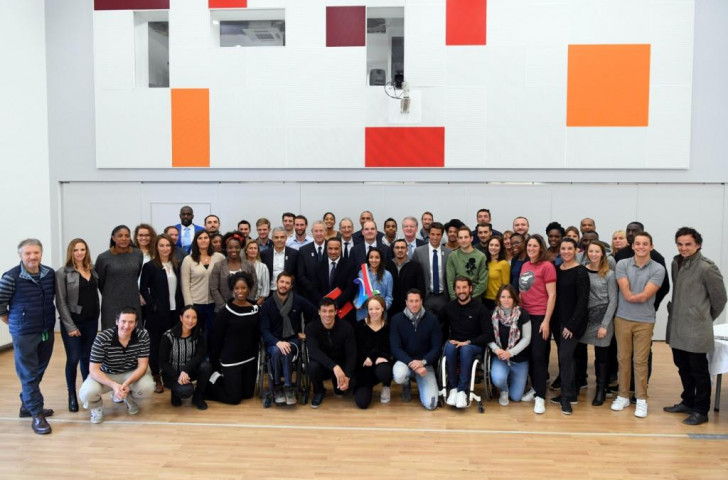 French leading athletes gathered at the nation's elite sports academy, INSEP, to discuss their possible future contribution to the organisation of the 2024 Olympic and Paralympic Games in Paris ©Paris 2024