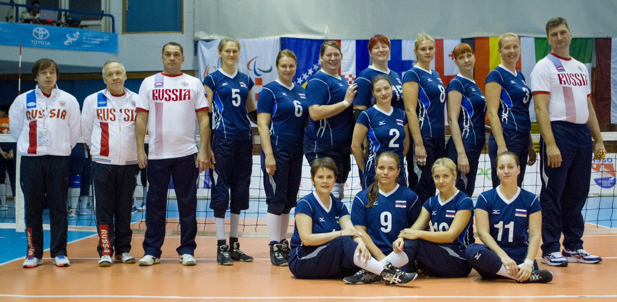 Russia clinch top spot in group at European Sitting Volleyball Championships