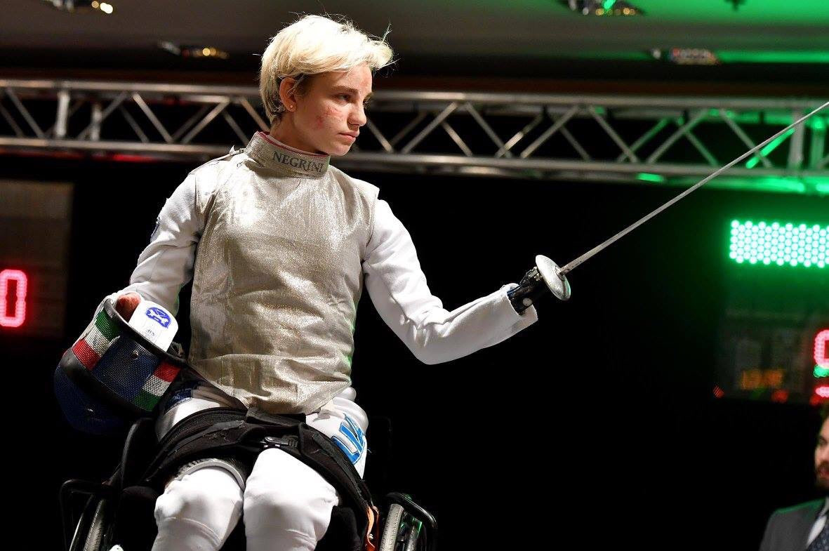"Paralympic champion Beatrice Vio clinched the gold medal in the women's foil ""B"" category on home soil ©Twitter"