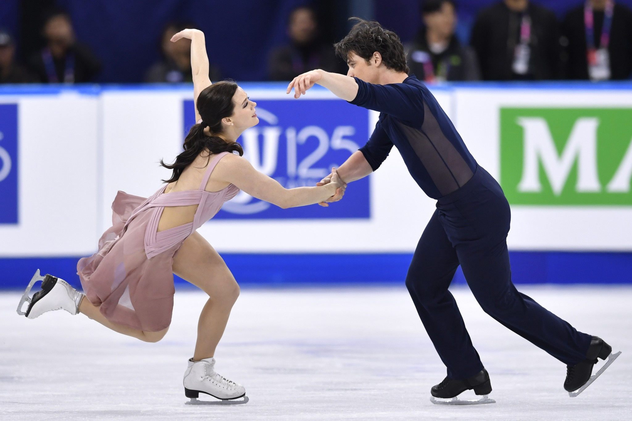 World ice dance champions Tessa Virtue and Canadians Scott Moir will be looking to follow up their victory at Skate Canada International with another good performance at the NHK Trophy in Osaka ©Getty Images