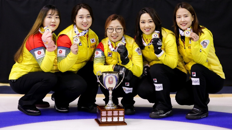 South Korea's women defended their title in Erina ©WCF