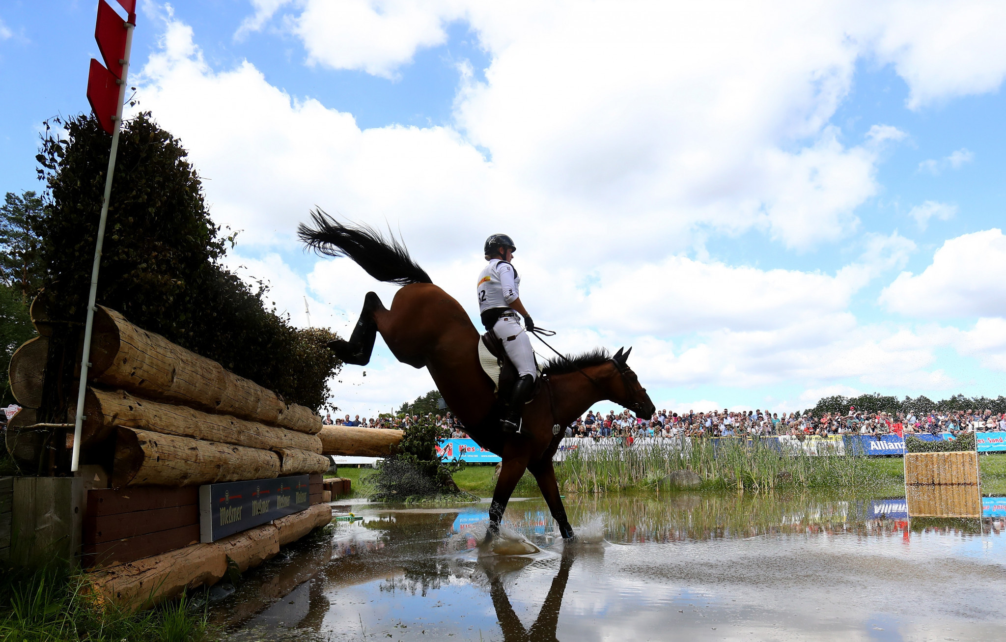 Germany's Julia Krajewski has claimed she has no explanation for her horse's positive test ©Getty Images