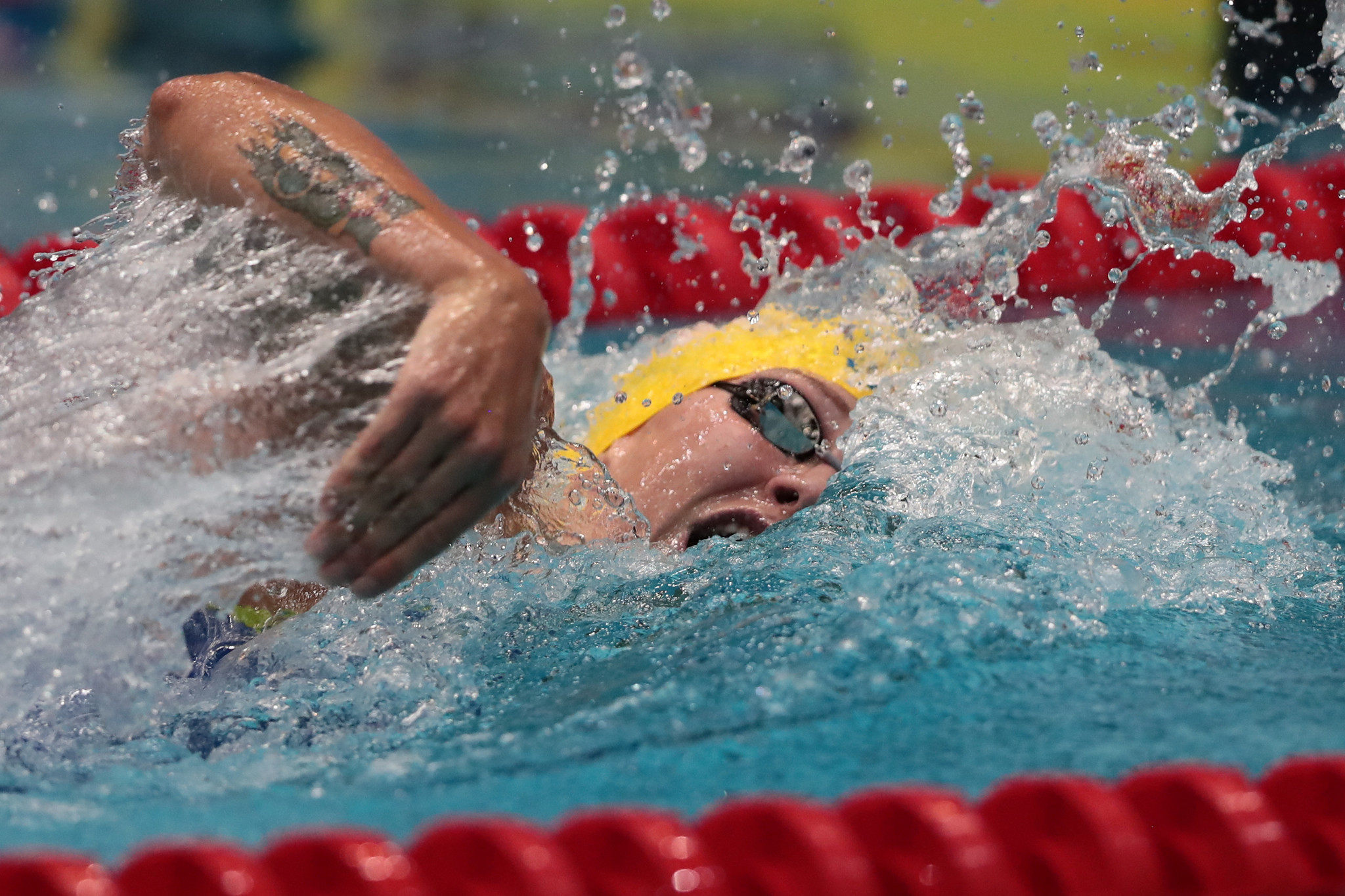 Sarah Sjöström of Sweden, winner of three gold medals at the World Championships in Budapest in July, will be aiming to stretch her lead in the overall women's standings at the FINA World Cup in Beijing ©Getty Images