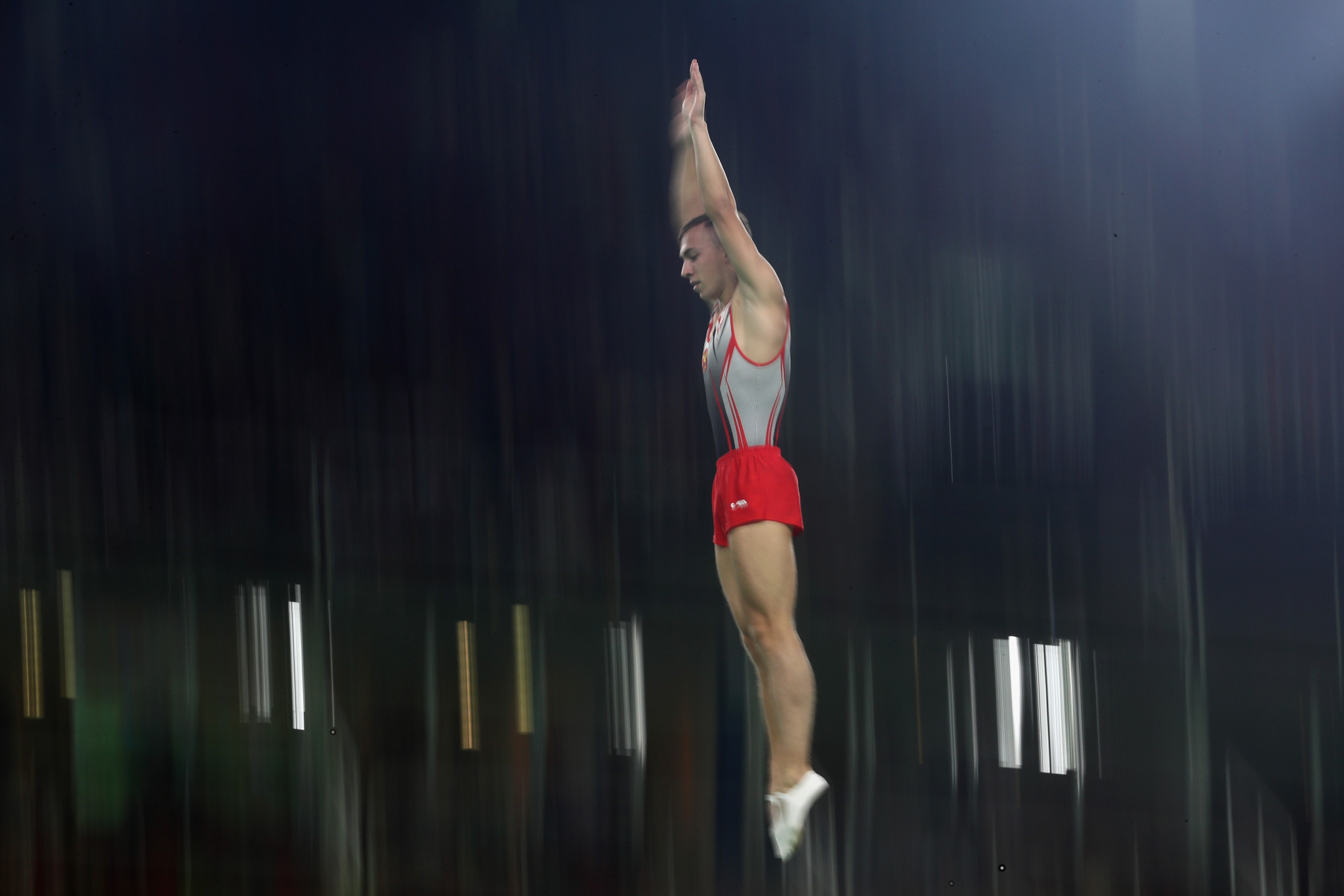 Olympic champion qualifies fifth in men's event at Trampoline Gymnastics World Championships
