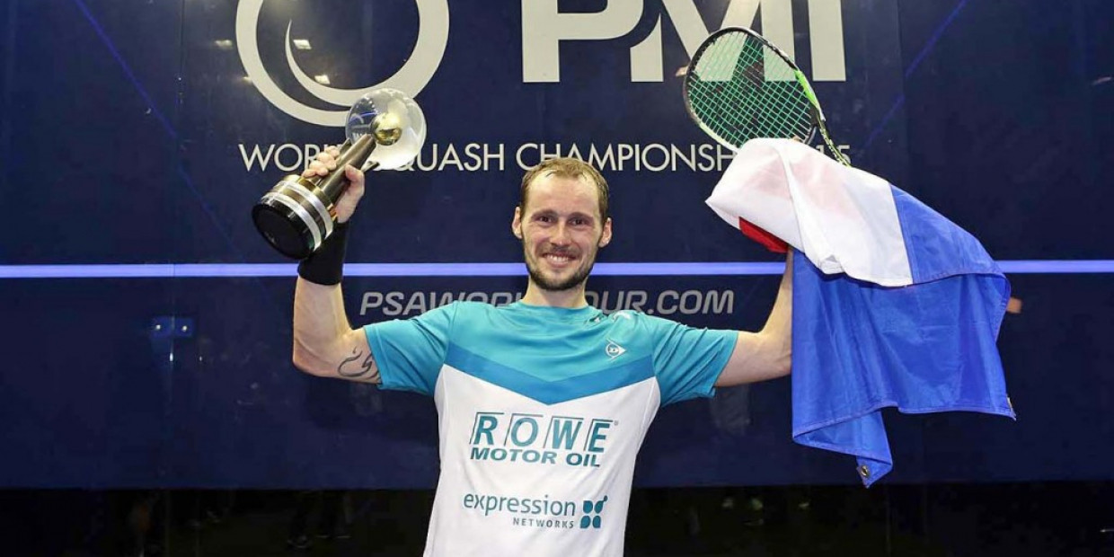 France's Gregory Gaultier has been named as the men's number one seed for next month's PSA World Championships in Manchester ©PSA