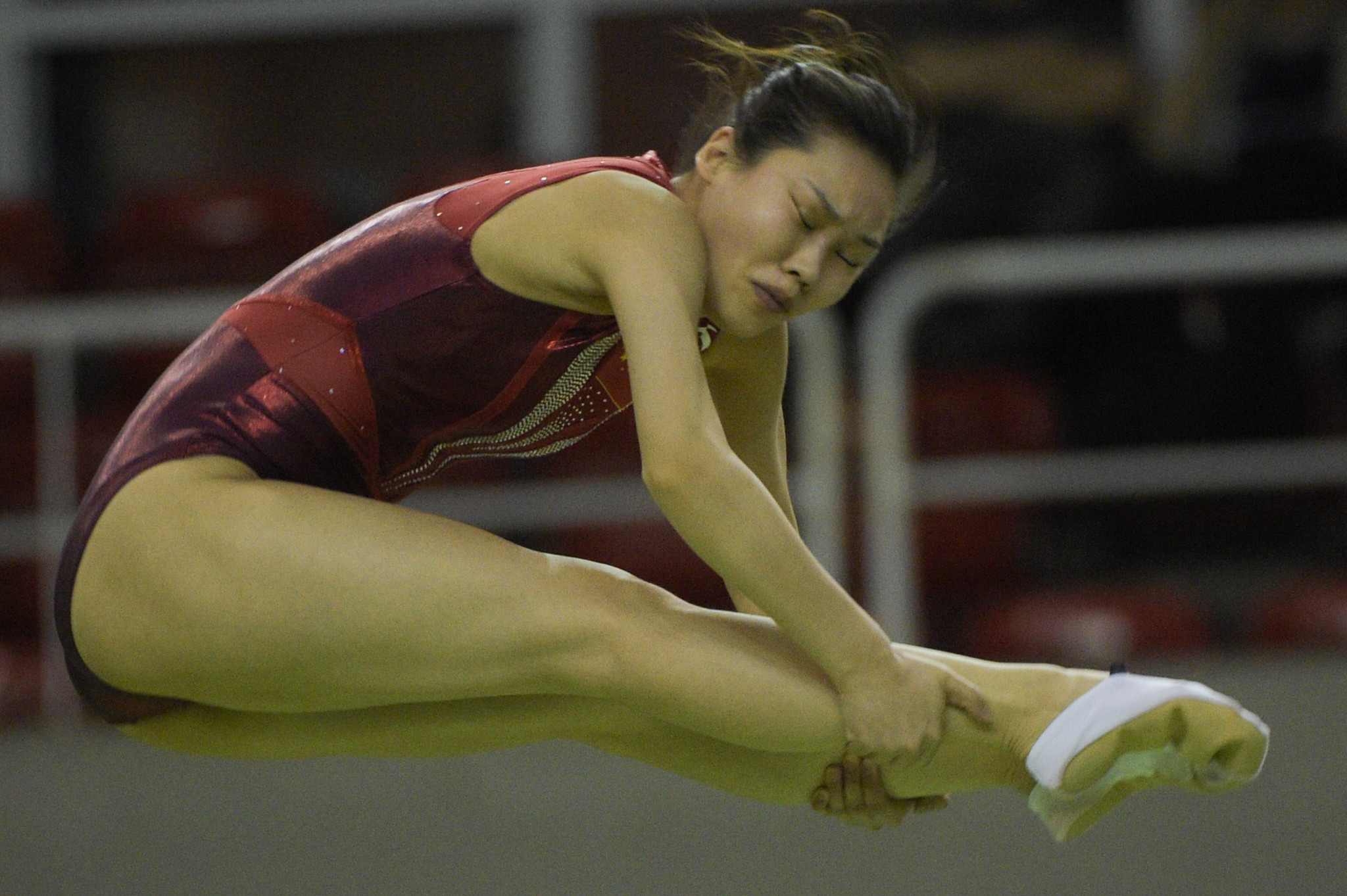 China's Liu Lingling led the way in the women's trampoline qualification standings ©Getty Images