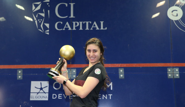 Egypt's Nour El Sherbini will be hoping to complete a hat-trick of triumphs ©PSA